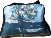 RaanPahMuang Work of Art Travel Bag The Ship Salvadore Dali Surrealism Print