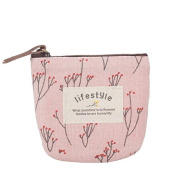 MLT Canvas Small Coin Purse Zip Wallet Pouch Bag