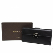 Gucci Soft Leather Continental Flap Wallet 231835, Black