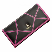 GBSELL Women Crown Long Leathe Classic Wallet Lady Trifold Clutch Wallet Card Long Purse Handbag