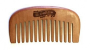 Col Ichabod Conk Handcrafted Peach Wood Beard Comb Coarse Teeth