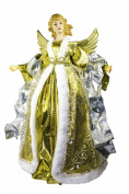 Queens of Christmas WL-ANGEL16-GOSLV Christmas Angel Decorative Accessory, 41cm , Gold/Silver