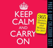 Keep Calm and Carry on Page-A-Day Calendar 2017