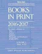Books in Print: 2016-17