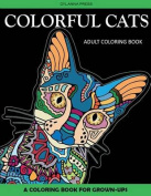 Colorful Cats Adult Coloring Book