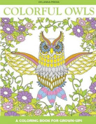 Colorful Owls Adult Coloring Book