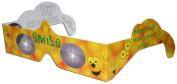 10 3D Paper Glasses, Happy Eyes, Smiley Lens, Bulk