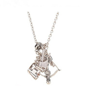 The Walking Dead Inspired Zombie Apocalypse Design Charm Necklace - Daryl / Rick : Bow+ Arrow +Axe +Telescope , Sheriff's Hat, Gun Charms