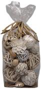 Jodhpuri Decorative Spheres, White