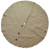 Firefly Craft Rustic Burlap Tree Skirt, 120cm