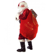 Large Velvet Embroidered Merry Christmas Santa Present Sack
