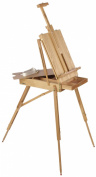 Displays2Go Adjustable and Portable Beech Wood Painting Artist Easel with 6-Compartment Drawer
