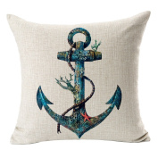 Hflove Nordic Sailing Yacht Anchored Retro Soft Cotton Pillow