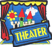 """""""theatre"""" PATCH- Iron On Embroidered Applique/Words, Acting, Actors, Actress"""
