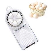 sany58520 Best 2 IN 1 Mould Flower Edges Cut Kitchen Egg Cutter Multifunction Slicer Sectioner