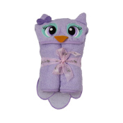 140cm x 80cm Owl Velour Toddler Towel, Purple, Frenchie Mini Couture