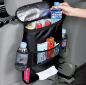 SANTHREE Multifunctional Car Seat Back Drinks Holder Cooler / Insulation Seatback Storage Bag Cool Wrap Bottle Bag with Mesh Pockets