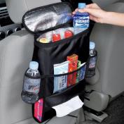 SANTHREE Multifunctional Car Seat Back Drinks Holder Cooler / Insulation Seatback Storage Bag Cool Wrap Bottle Bag with Mesh Pockets