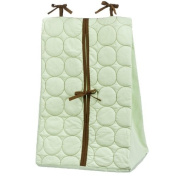 Quilted Circles Green/Choc Nappy Stacker