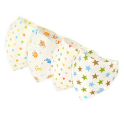 Baby Bandana Bibs By Little Cheeky (set of 4) Pure Cotton-Absorbent-Unisex-Adjustable-with non-metal Snaps
