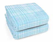 Olli & Lime Hatch Fitted Crib Sheet Set, Blue/White