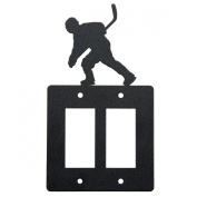 Hockey double rocker (GFI) light switch plate cover