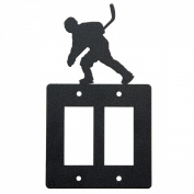 Hockey double rocker (GFI) light switch plate cover