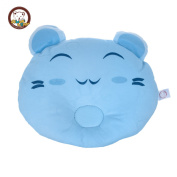KSB 28cm Cute Soft Anti Roll Pure Cotton Baby Head Positioner Pillow,Prevent Flat Head For 3 Months- 3 Year Infant