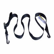 Qiorange Car Baby Capsule Anchor Isofix Latch Top Tether Strap Hook Holder safety seat belt Adjustable-Black