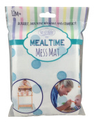 Meal Time Mess Mat (Splat Mat or Place Mat) - Blue Polka Dot