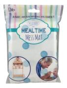 Meal Time Mess Mat (Splat Mat or Place Mat) - Blue Polka Dot