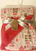 Baby Girl Blanket Coral Reversible