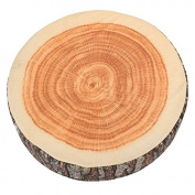 eMylo Log-shaped Head Rest Decorative Pillow Cushion Wood Columns