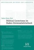 Political Correctness Im Duden-Universalworterbuch [GER]