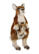 "National Geographics ""KANGAROO"" Stuffed Animals Mother with Baby Plush Toy"