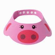 Sanwood Adjustable Baby Kids Shampoo Bath Shower Cap Hat Wash Hair Shield