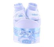 Baby Boys mini Nappy Cake, Baby Shower Gift, Blue Baby Hamper - FAST.