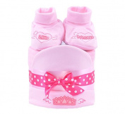 Baby Girls Mini Nappy Cake, Baby Shower Gift, Pink Baby Hamper - FAST.