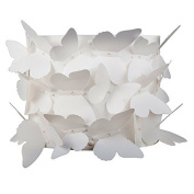 Decorative Modern Wall Light Fitting with White 3D Butterflies