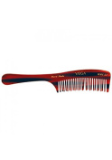 Vega Handmade De-Tangling Comb. All wide spaced toothed de-tangling comb with 2 row.