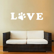Ailiouen® Dog Footprints LOVE Removeable Home Decor Art Wall Decal
