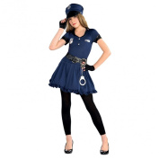 Police Officer Costume Teen Girls Cop Cutie Book Week Fancy Dress Party Costume LAPD Cops & Robbers Christy's Amscan Hat Gloves Dress Handcuffs