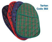 Hot Water Bottle With Tartan Cover - Assorted Colours