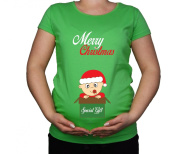 Maternity Pregnancy size 10 - 20 Cotton Special Gift Christmas Print Top Tunic T-Shirt