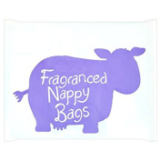 Brand New Pack of 200 Disposable Fragranced Nappy Bags Sacks With Tie Handles