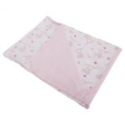 Baby Girls Floral Rabbit Pattern Blanket (75cm x 90cm)
