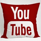 Youtube Icon Social Media Pillow Case