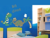 DecoBay Large Dinosaur Big Dinos Dinosaur Premium Wall Stickers Removable and Repositionable for Boys/ Kids Bedroom Walls, Mixed Colour