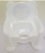 CUTE POTTY TRAINING CHAIR SEAT WHITE WITH REMOVABLE POTTY LID