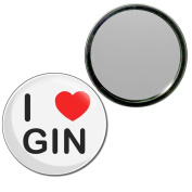 I Love Gin - 55mm Round Compact Mirror